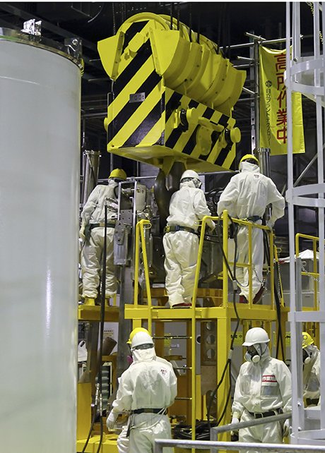 Workers in Fukushima