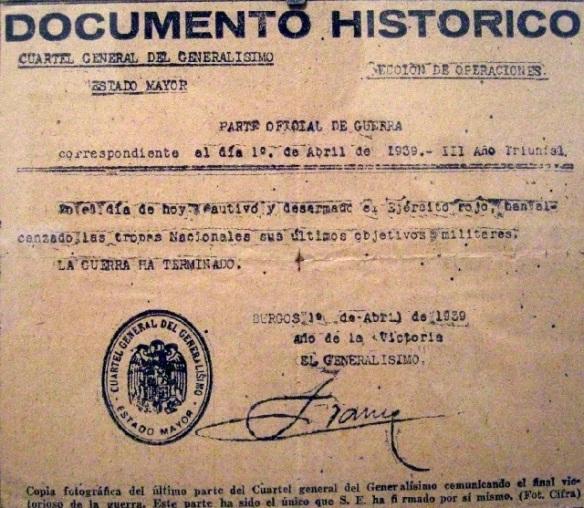 Espagne-fin-guerre-civile