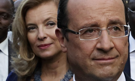 Valérie Trierweiler with French President François Hollande