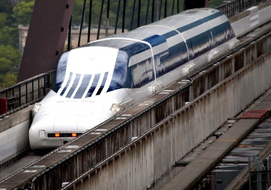 one-possibility-is-this--magnetic-levitation-a-train-that-rides-on-an-invisible-force-field-of-magnets-may-sound-farfetched-to-many-then-again--to-people-50-years-ago--so-did-a-high-speed-electric-train-shaped-like-a-bullet